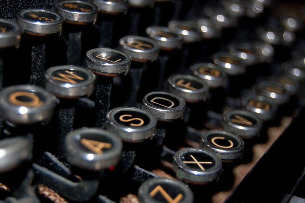 Antique Typewriter Keys || Photo by Holly Chaffin